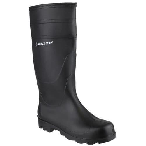 Dunlop Universal Plain Rubber Wellingtons Black